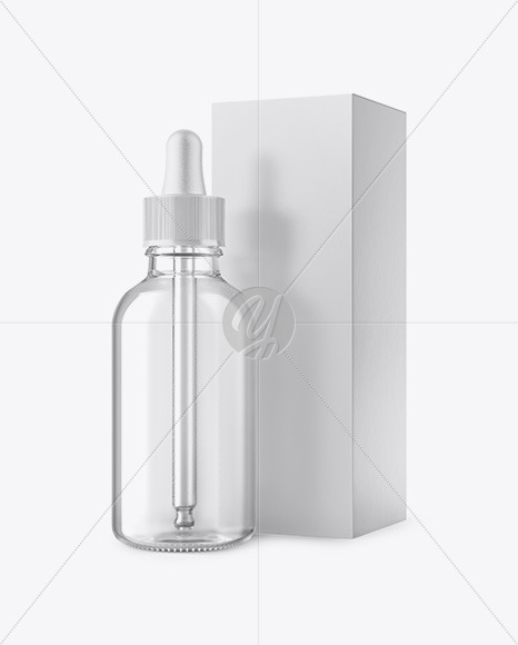50ml Clear Glass Dropper Bottle W/ Box