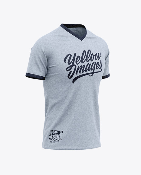 Download Mens Heather Raglan T Shirt Mockup Front Half Side View Yellowimages