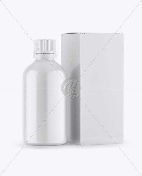 Matte Bottle Box Mockup In Bottle Mockups On Yellow Images