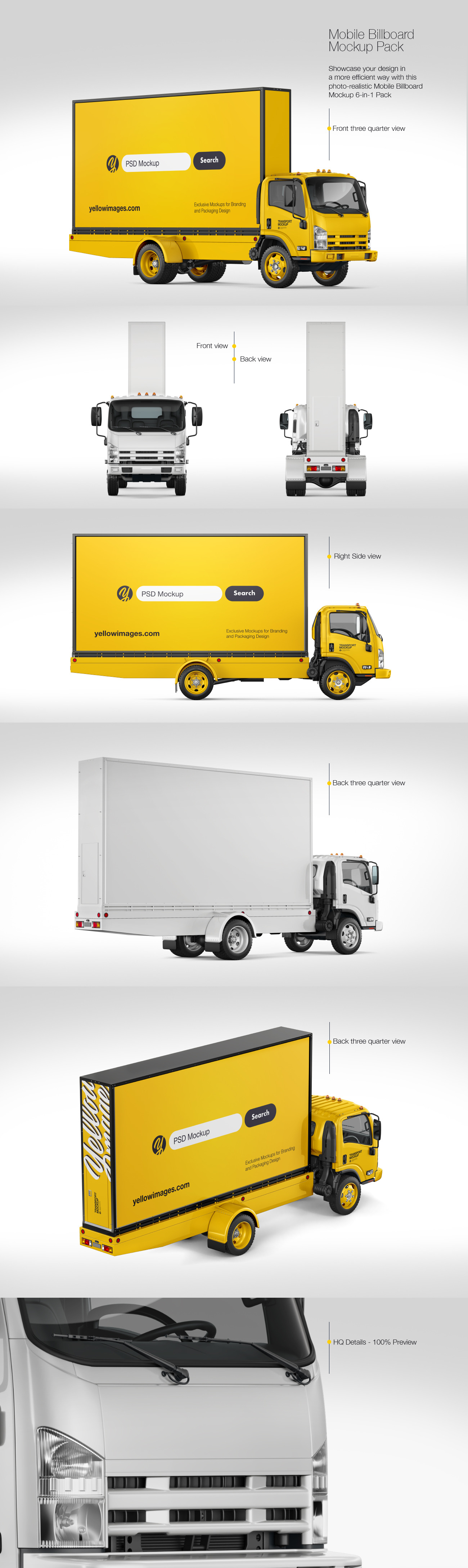 Mobile Billboard Mockup Pack