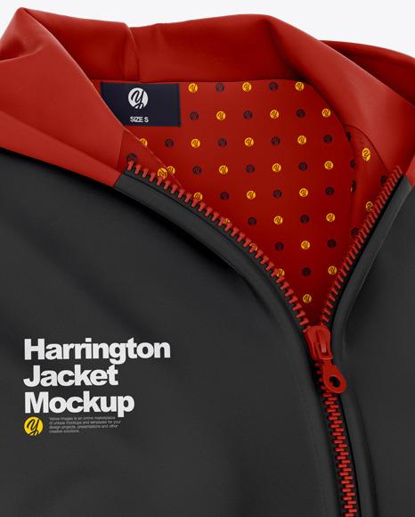 Women's Harrington Hooded Jacket Mockup