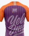 Men's Soccer Raglan Jersey Mockup - Back View - Football Jersey Soccer T-shirt