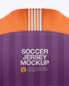 Men's Soccer Raglan Jersey Mockup - Back View