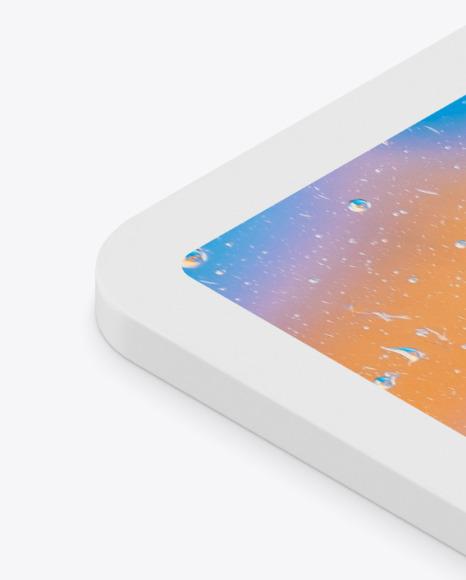 iPad Pro 12.9″ Isometric Clay Right Mockup
