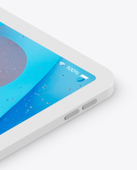 iPad Pro 12.9″ Isometric Clay Left Mockup