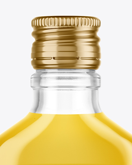 Download Clear Glass Bottle With Liquor Mockup In Bottle Mockups On Yellow Images Object Mockups Yellowimages Mockups