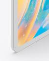 iPad Pro 12.9″ Isometric Clay Right Portrait Mockup