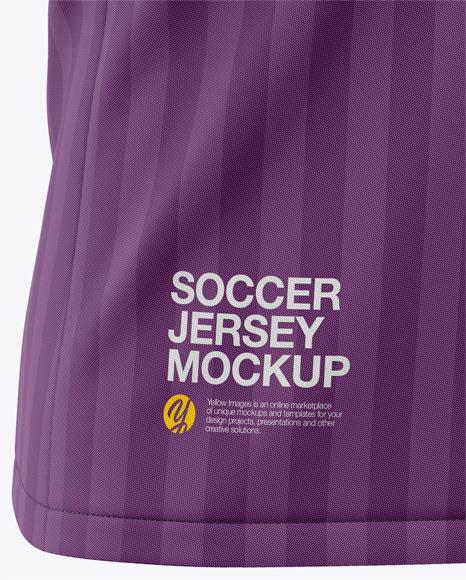Men's Soccer Raglan Jersey Mockup - Front Half-Side View