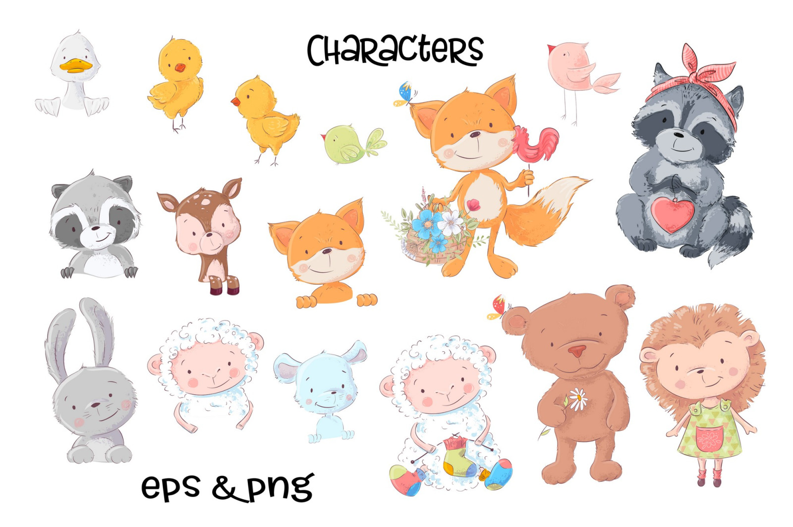 Cute animals – Vector Clip Art