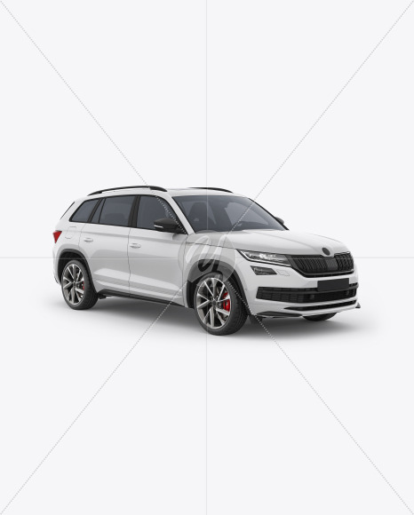 SUV Crossover Car Mockup - Half Side View - Yellowimages Mockups