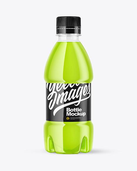 PET Drink Bottle 250ml in Shrink Sleeve Mockup