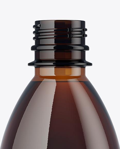 250ml Amber PET Bottle Mockup