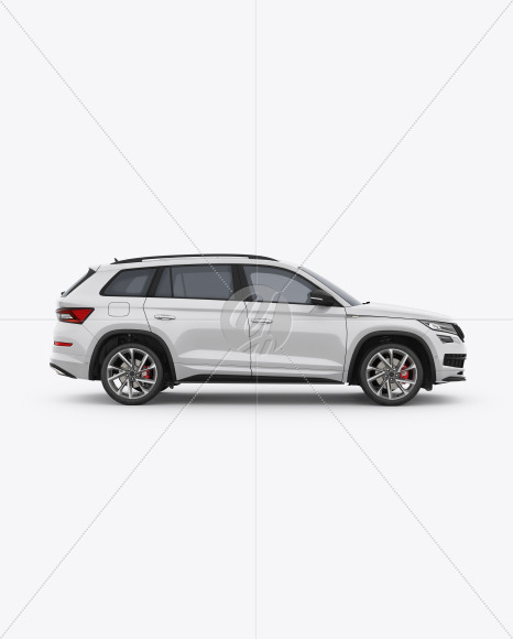 SUV Crossover Car Mockup - Side View - Yellowimages Mockups