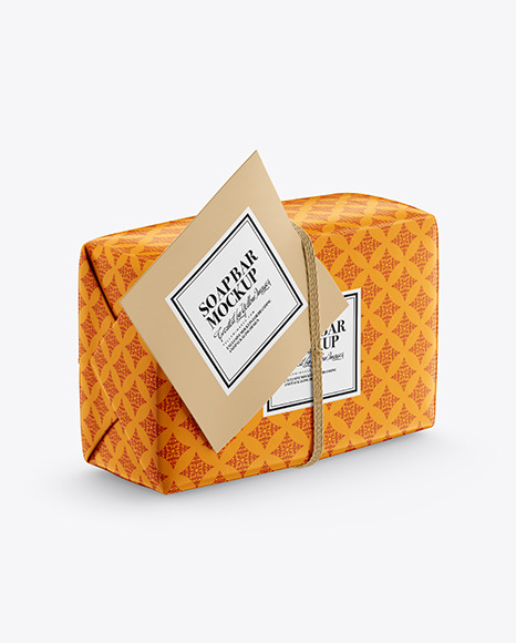 Glossy Soap Bar Package Mockup