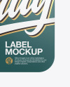 Square Label With Rope Mockup