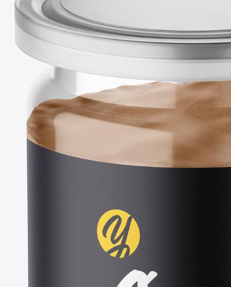 Jar with Cocoa Powder Mockup