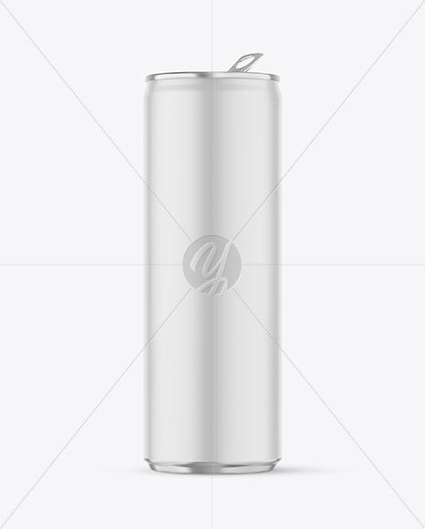 Matte Aluminum Drink Can Mockup