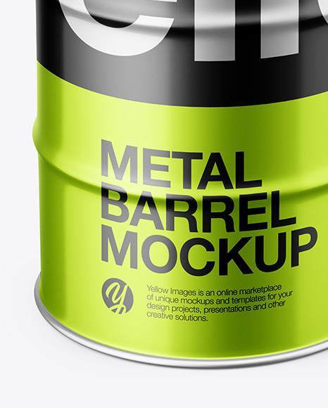 Metallic Barrel Mockup
