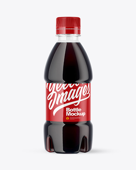 250ml PET Cola Bottle Mockup