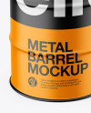 Matte Metal Barrel Mockup