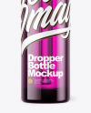 Purple Dropper Bottle Mockup
