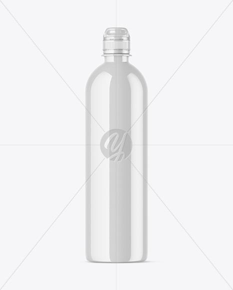 Glossy Water Bottle Mockup