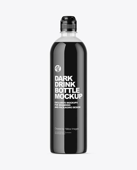 Dark Drink Bottle Mockup
