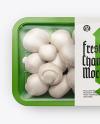 Plastic Tray With Champignon Mockup