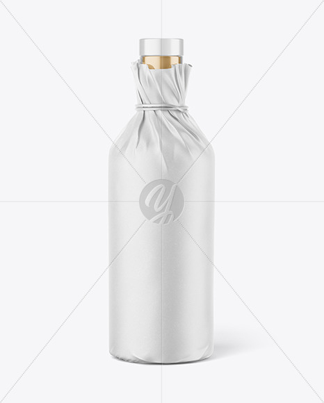 Download Vodka Bottle In Paper Wrap Mockup In Bottle Mockups On Yellow Images Object Mockups PSD Mockup Templates