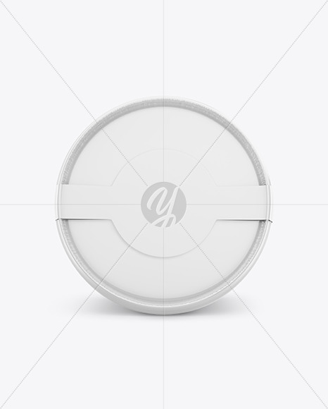Glossy Ice Cream Cup Mockup - Top View
