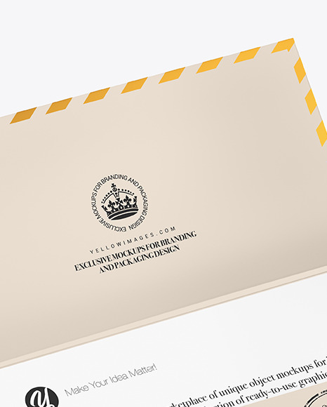 Download Opened Paper Envelope Mockup In Stationery Mockups On Yellow Images Object Mockups PSD Mockup Templates