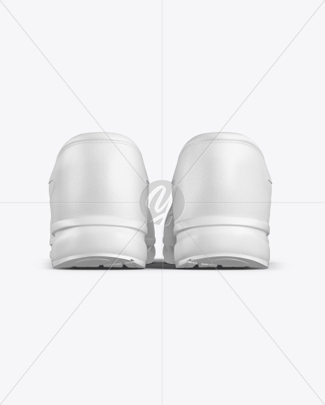 Download Sneaker Mockup Back View Yellow Images