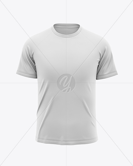 Men S Raglan Crew Neck T Shirt Mockup Front View In Apparel