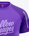 Men's Raglan Crew Neck T-Shirt Mockup - Front View