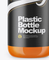 Clear Bottle with Carrot Juice Mockup