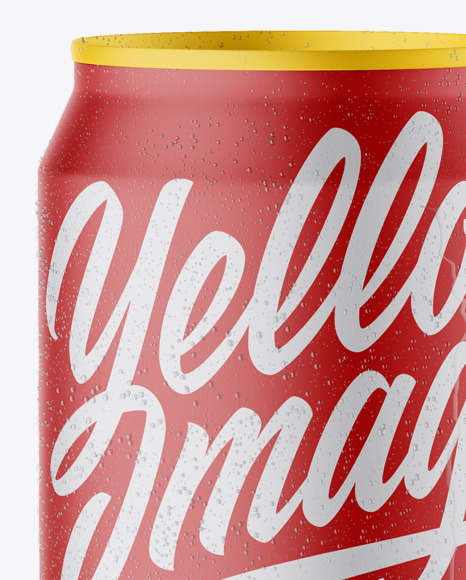 Matte Can with Condensation Mockup