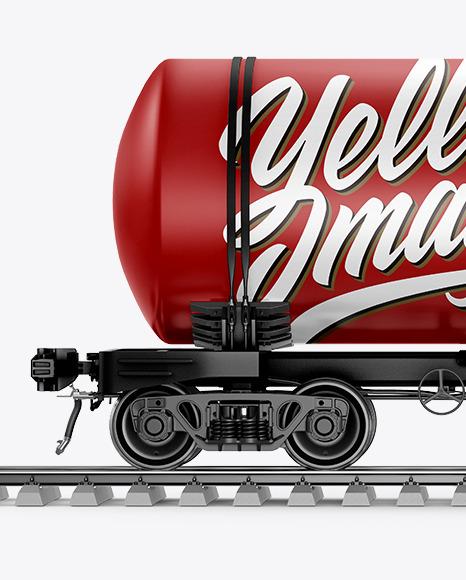 Railroad Tank Car Mockup