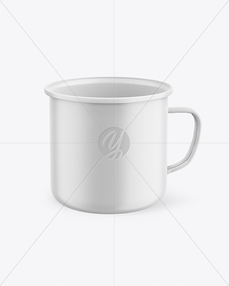 Matte Enamel Cup Mockup