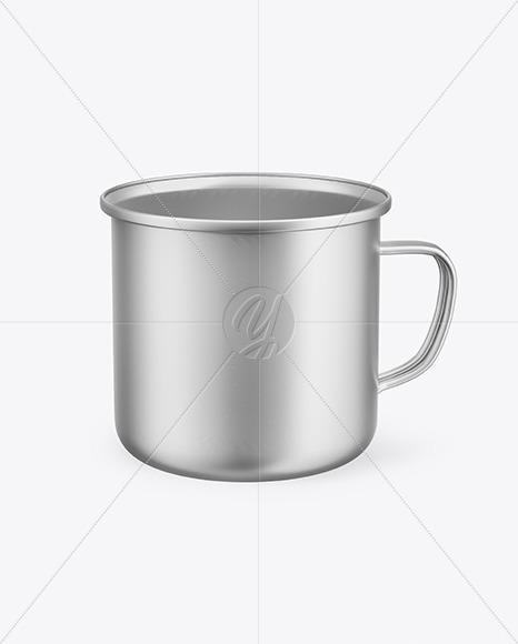 Metallic Enamel Cup Mockup
