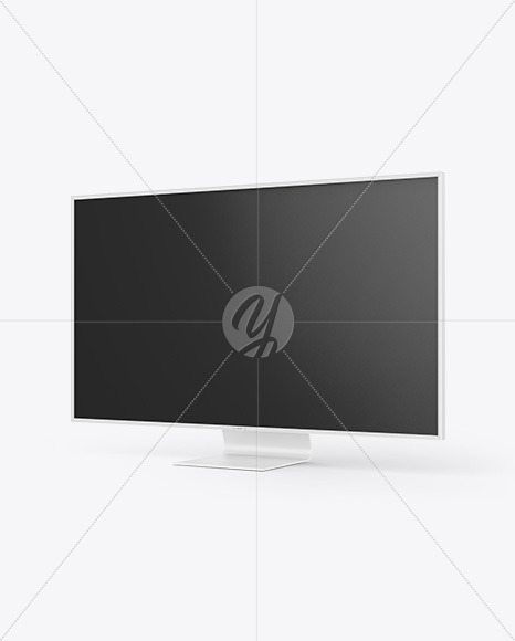 "75"" TV Mockup - Half Side View"