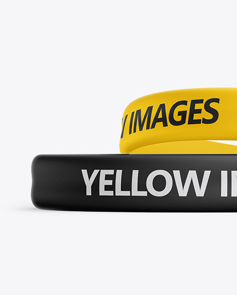 Download Silicone Wristbands Mockup Free Yellow Images