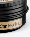60g Matte Cosmetic Tin Can Mockup