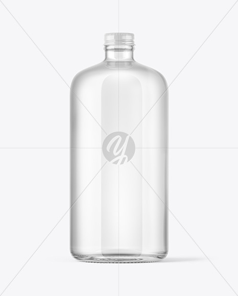 Download Clear Glass Water Bottle Mockup In Bottle Mockups On Yellow Images Object Mockups PSD Mockup Templates