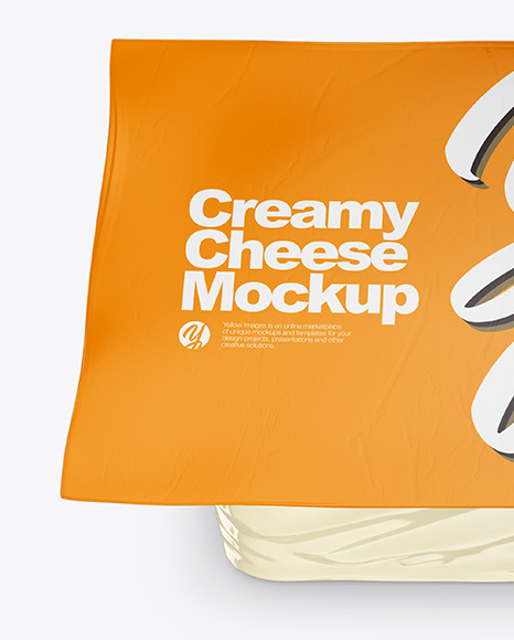 Creamy Cheese Mockup High Angle Shot