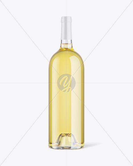 1L White Wine Bottle Mockup