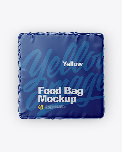 Glossy Food Bag Mockup