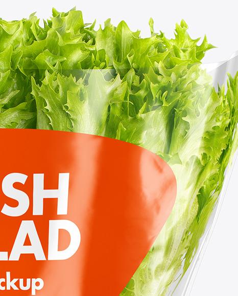 Download Plastic Bag With Salad Mockup PSD - Free PSD Mockup Templates