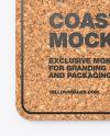 Cork Beverage Coaster Mockup