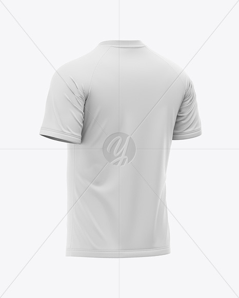 Download Mens Crew Neck Soccer Jersey Mockup Back Half Side View Of Soccer T Shirt Yellowimages