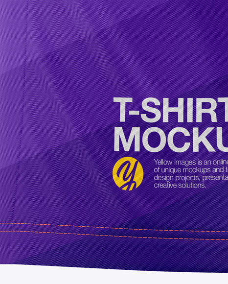 Men's Raglan Crew Neck T-Shirt Mockup - Back Half-Side View